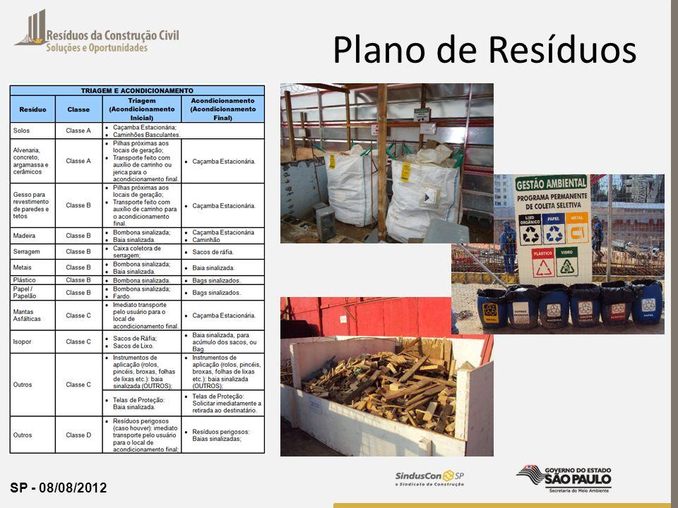 SP - 08/08/2012 Plano de Resíduos