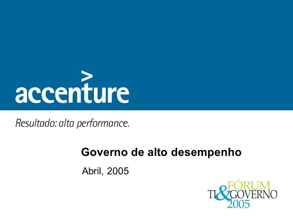 Abril, 2005 Governo de alto desempenho