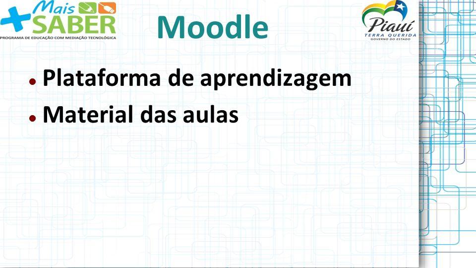 Moodle Plataforma de aprendizagem Material das aulas