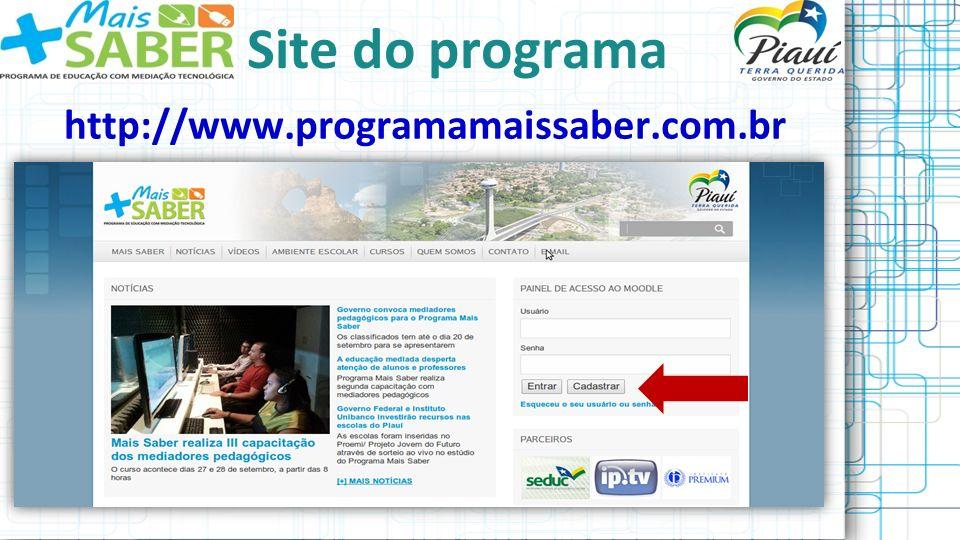 Dúvidas ou sugestões contato@programamaissaber.com.br