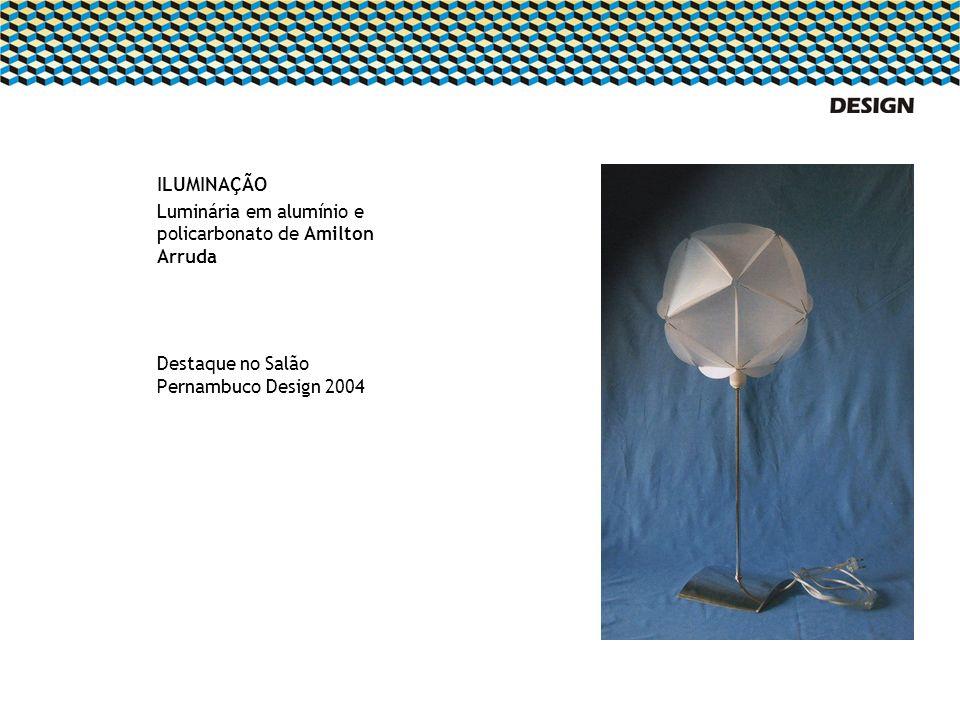ILUMINAÇÃO Luminária em alumínio e policarbonato de Amilton Arruda Destaque no Salão Pernambuco Design 2004