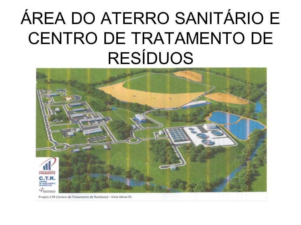 ÁREA DO ATERRO SANITÁRIO E CENTRO DE TRATAMENTO DE RESÍDUOS