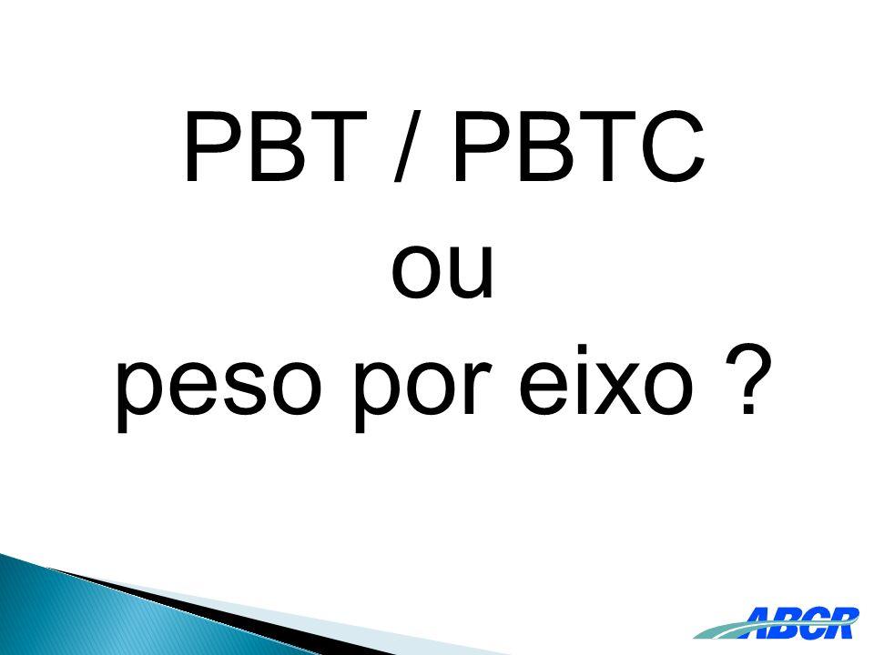 PBT / PBTC ou peso por eixo ?