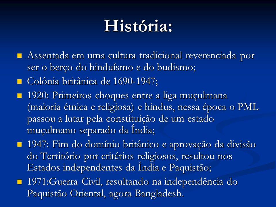 História: Assentada em uma cultura tradicional reverenciada por ser o berço do hinduísmo e do budismo; Assentada em uma cultura tradicional reverencia