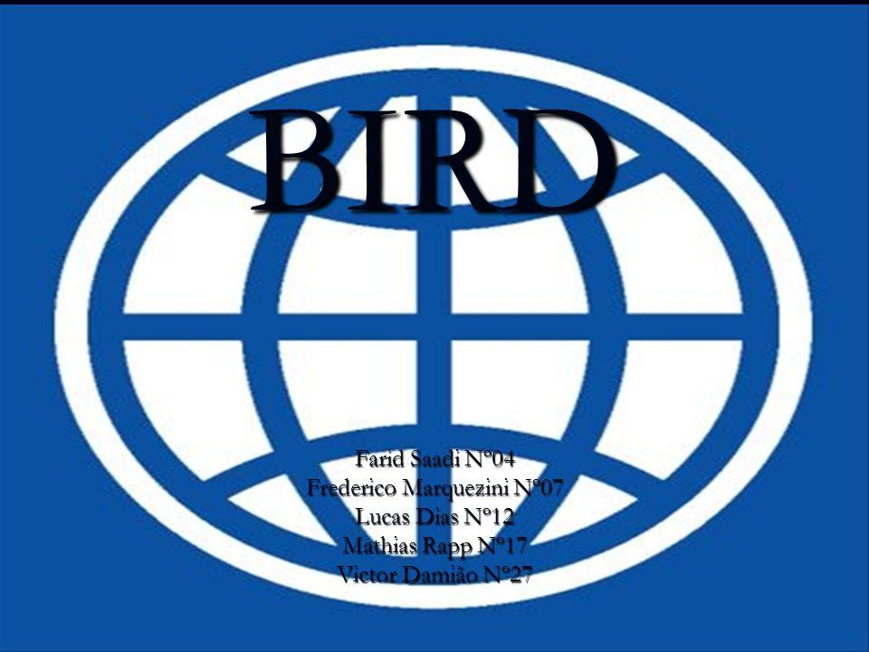 BIRD Farid Saadi Nº04 Frederico Marquezini Nº07 Lucas Dias Nº12 Mathias Rapp Nº17 Victor Damião Nº27
