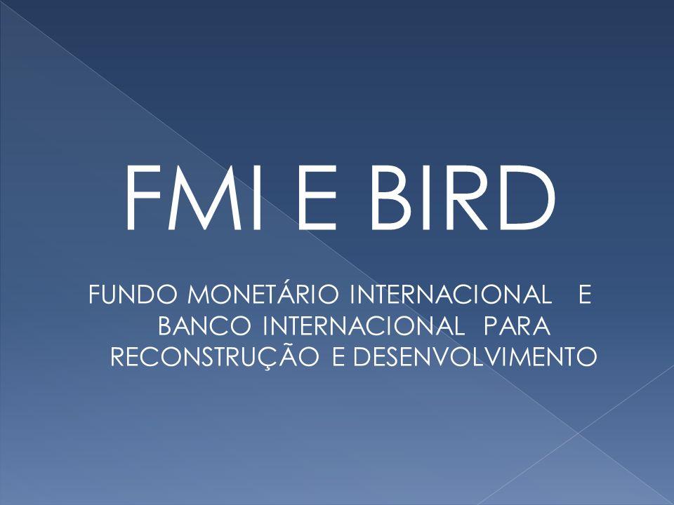 FMI E BIRD FUNDO MONETÁRIO INTERNACIONAL E BANCO INTERNACIONAL PARA RECONSTRUÇÃO E DESENVOLVIMENTO
