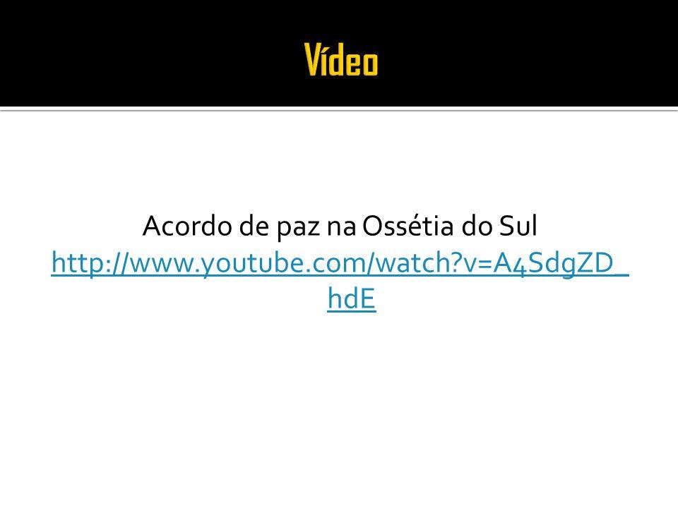 Acordo de paz na Ossétia do Sul http://www.youtube.com/watch?v=A4SdgZD_ hdE