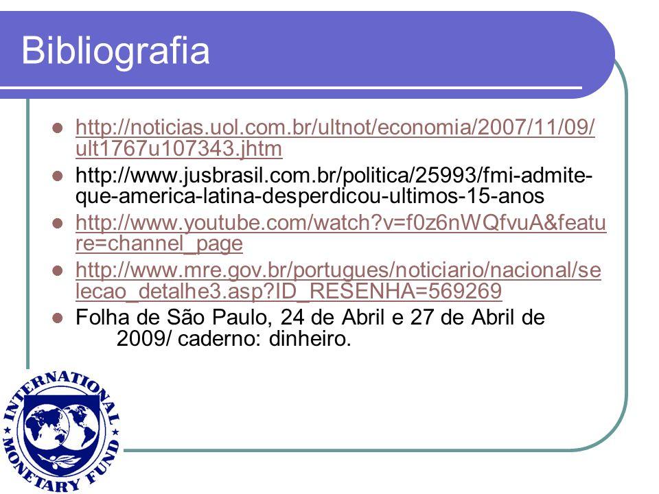 Bibliografia http://noticias.uol.com.br/ultnot/economia/2007/11/09/ ult1767u107343.jhtm http://noticias.uol.com.br/ultnot/economia/2007/11/09/ ult1767