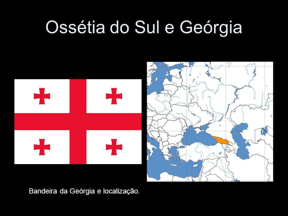 Ossétia do Sul e Geórgia Bandeira da Geórgia e localização.