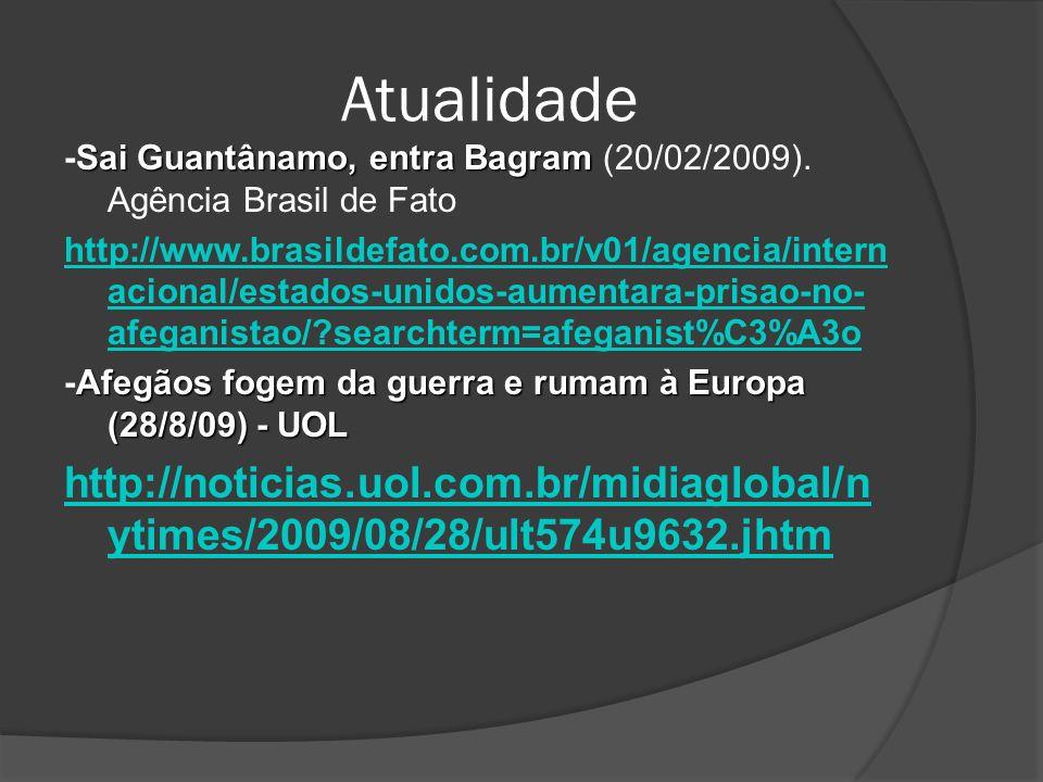 Atualidade Sai Guantânamo, entra Bagram -Sai Guantânamo, entra Bagram (20/02/2009). Agência Brasil de Fato http://www.brasildefato.com.br/v01/agencia/