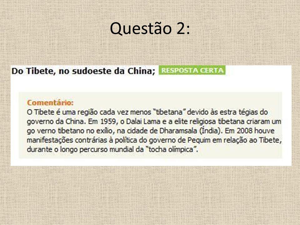 Questão 2: