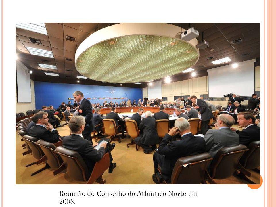 Reunião do Conselho do Atlântico Norte em 2008.