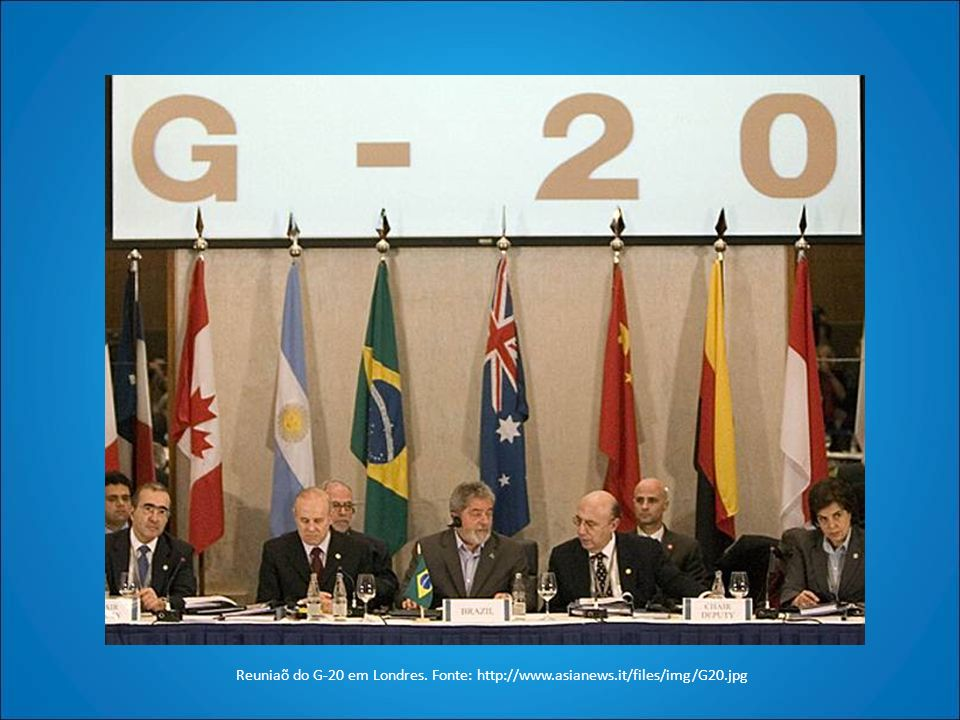 Reuniaõ do G-20 em Londres. Fonte: http://www.asianews.it/files/img/G20.jpg
