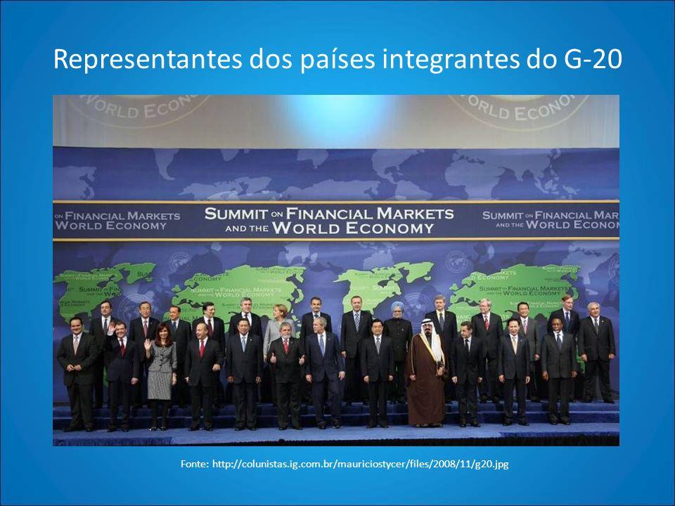 Representantes dos países integrantes do G-20 Fonte: http://colunistas.ig.com.br/mauriciostycer/files/2008/11/g20.jpg