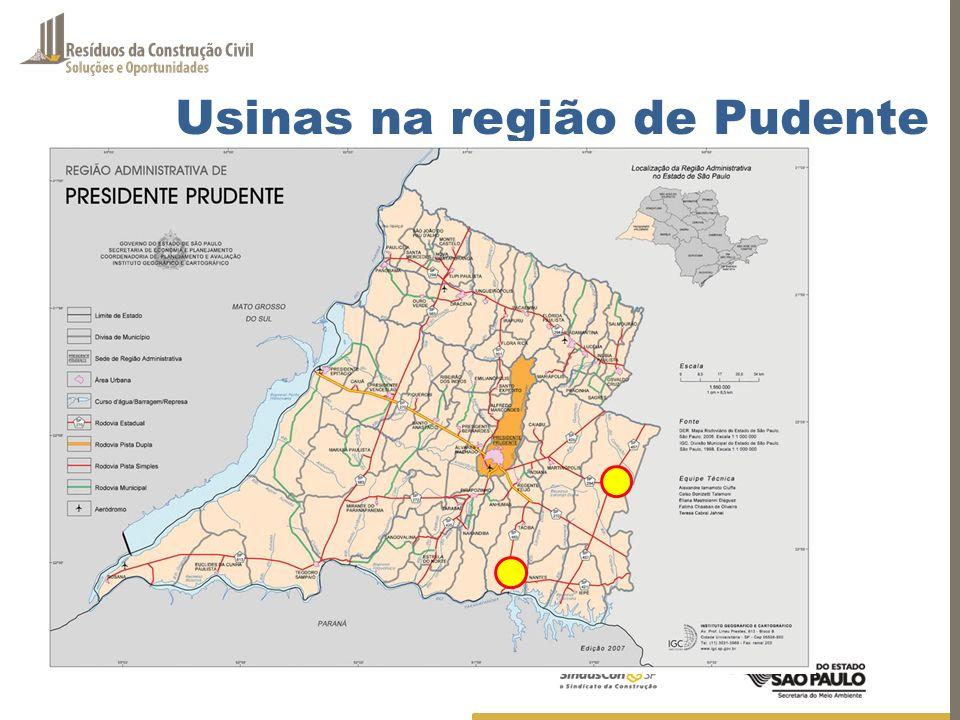 Potencial de Mercado Consumo mensal é de 5.400.000 ton de agregado mineral 30% utilizados em função não estrutural BRASIL – potencial de mercado 1.620.000 ton/mês SÃO PAULO - 520.000 t/mês = (32%) - menor que capacidade instalada MERCADO DE AGREGADOS RECICLADOS