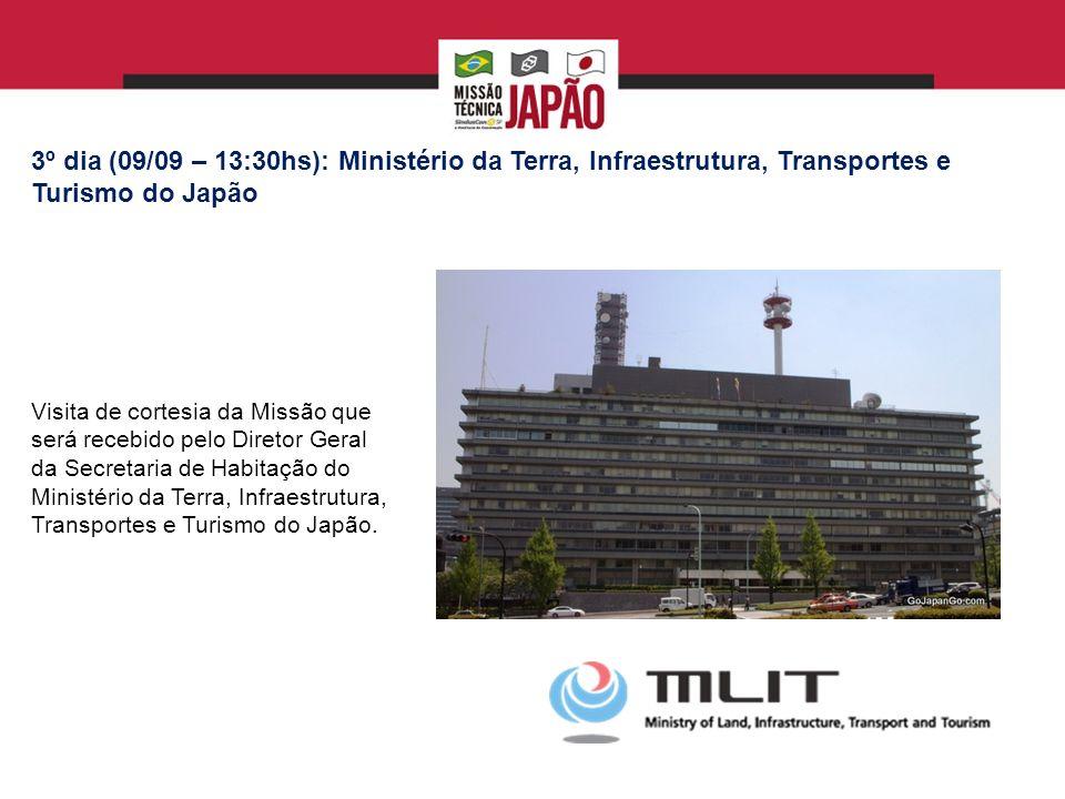 6º DIA (13/09 – quinta feira – 9:30 – 11:30): Kashiwa-no-ha Smart City Mais detalhes em: http://www.mitsuifudosan.co.jp/kashiwanoha/e/index.html