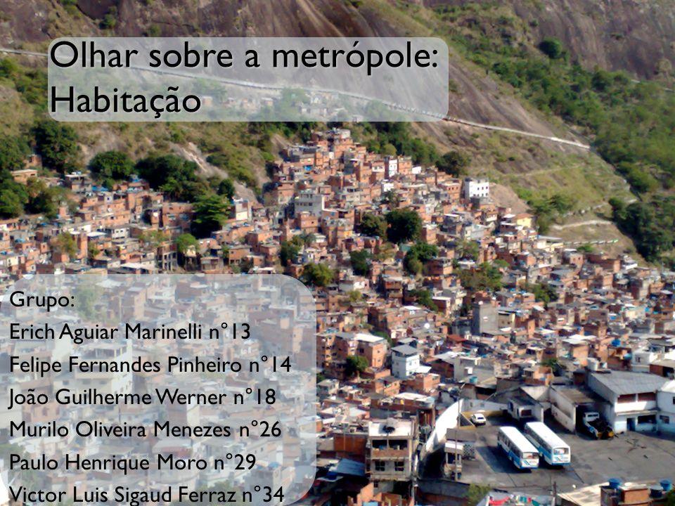 Olhar sobre a metrópole: Habitação Grupo: Erich Aguiar Marinelli n°13 Felipe Fernandes Pinheiro n°14 João Guilherme Werner n°18 Murilo Oliveira Meneze