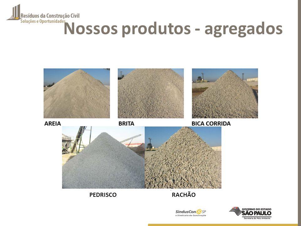 Nossos produtos - agregados RACHÃOPEDRISCO