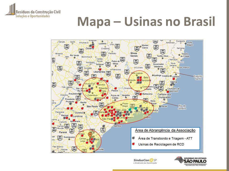 Mapa – Usinas no Brasil