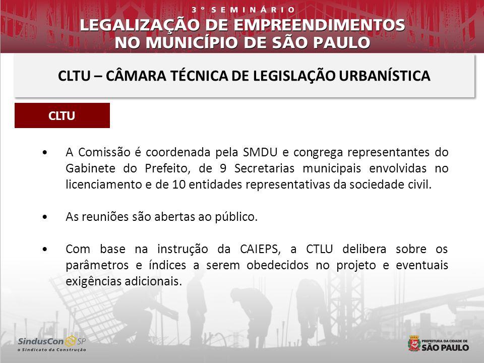 A Comissão é coordenada pela SMDU e congrega representantes do Gabinete do Prefeito, de 9 Secretarias municipais envolvidas no licenciamento e de 10 e