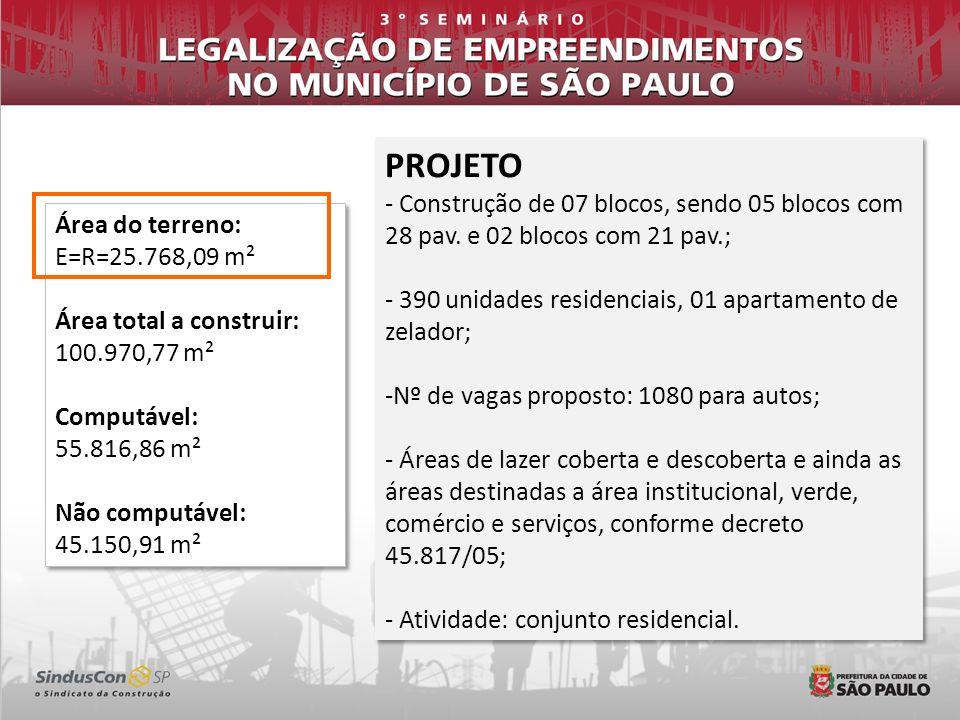 INTERFACE COM OUTROS ÓRGÃOS 1.TERRENO SUPERIOR A 20.000 M² - Reserva de áreas verdes e institucionais, nos termos do artigo 8º do Decreto nº 45.817/05 - PARSOLO