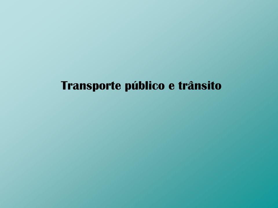 Transporte público e trânsito