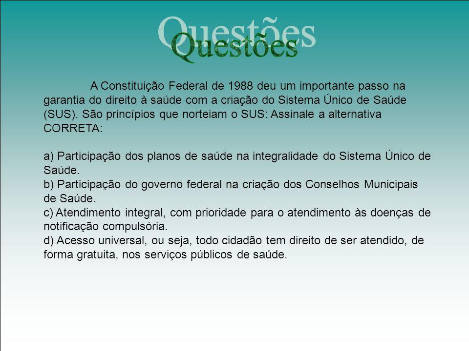 A Constituição Federal de 1988 deu um importante passo na garantia do direito à saúde com a criação do Sistema Único de Saúde (SUS).