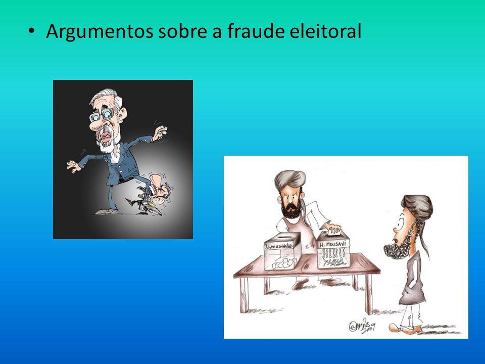 Argumentos sobre a fraude eleitoral