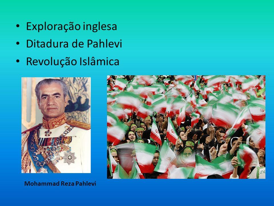 Exploração inglesa Ditadura de Pahlevi Revolução Islâmica Mohammad Reza Pahlevi