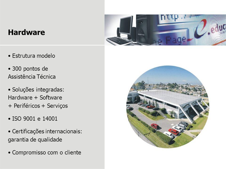 Estrutura modelo 300 pontos de Assistência Técnica Soluções integradas: Hardware + Software + Periféricos + Serviços ISO 9001 e 14001 Certificações in