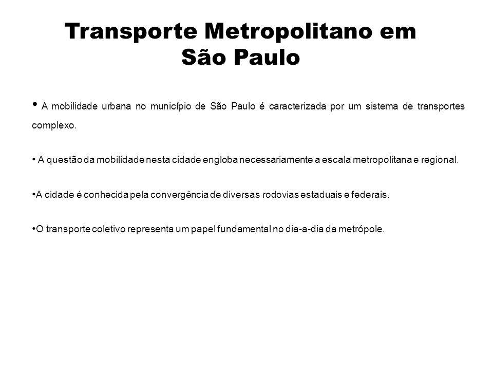 A mobilidade urbana no município de São Paulo é caracterizada por um sistema de transportes complexo. A questão da mobilidade nesta cidade engloba nec