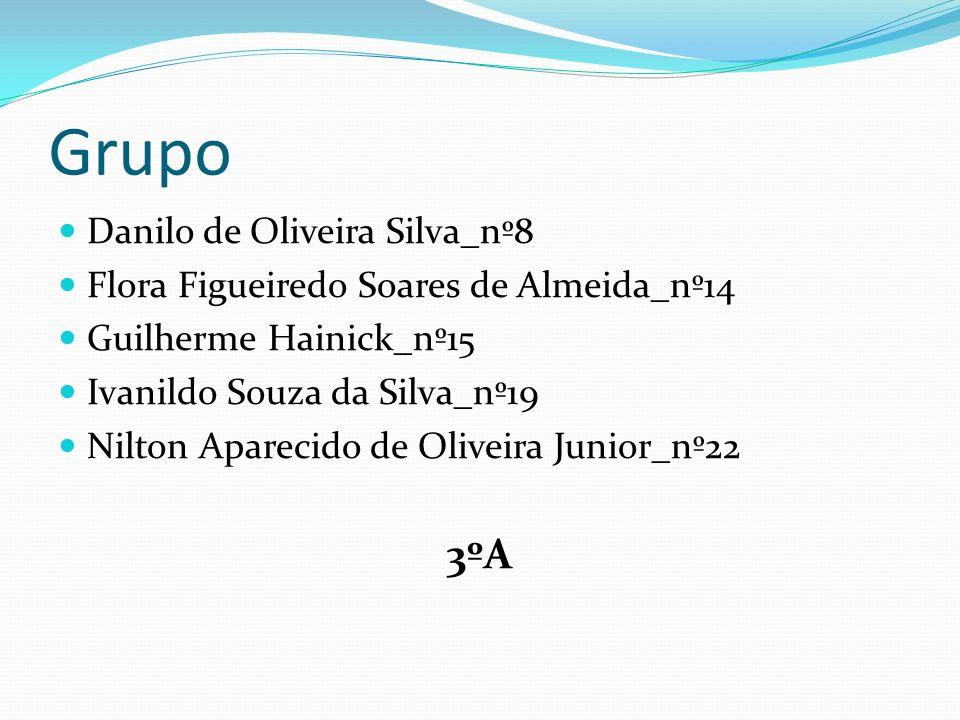 Grupo Danilo de Oliveira Silva_nº8 Flora Figueiredo Soares de Almeida_nº14 Guilherme Hainick_nº15 Ivanildo Souza da Silva_nº19 Nilton Aparecido de Oli