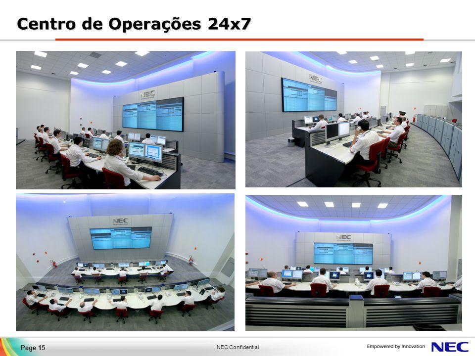 NEC Confidential Page 15 Centro de Operações 24x7