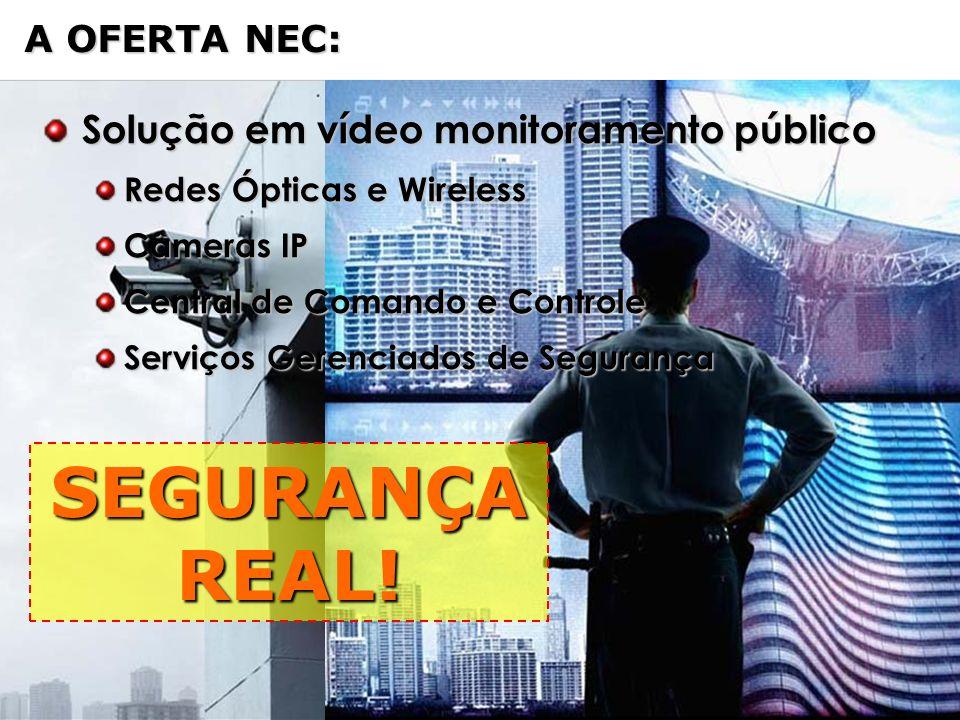 NEC Confidential Page 5 A OFERTA NEC: SEGURANÇA REAL! Solução em vídeo monitoramento público Solução em vídeo monitoramento público Redes Ópticas e Wi