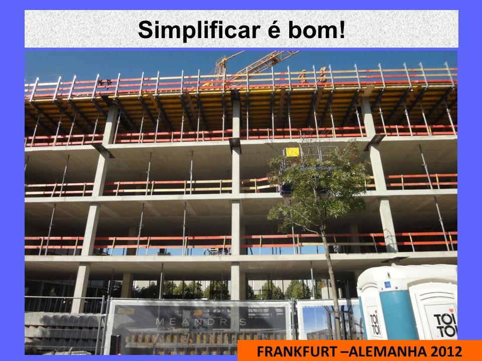Simplificar é bom! FRANKFURT –ALEMANHA 2012