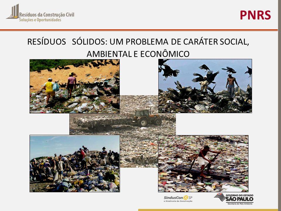 PNRS RESÍDUOS SÓLIDOS: UM PROBLEMA DE CARÁTER SOCIAL, AMBIENTAL E ECONÔMICO
