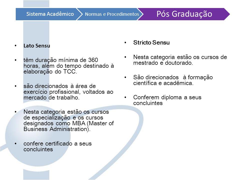 Sistema Acadêmico Normas e Procedimentos Visão Geral