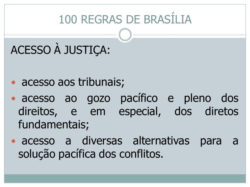 ACESSO À JUSTIÇA: acesso aos tribunais; acesso ao gozo pacífico e pleno dos direitos, e em especial, dos diretos fundamentais; acesso a diversas alter