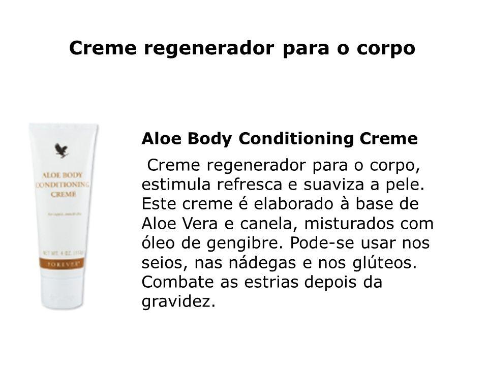 Creme regenerador para o corpo Aloe Body Conditioning Creme Creme regenerador para o corpo, estimula refresca e suaviza a pele. Este creme é elaborado