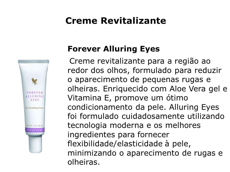 Creme Revitalizante Forever Alluring Eyes Creme revitalizante para a região ao redor dos olhos, formulado para reduzir o aparecimento de pequenas ruga