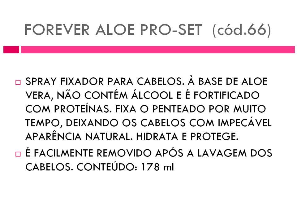 Aloe Pro Set É elaborado com o gel de Aloe combinado com glicerina, glicolpropileno, proteína vegetal, agregando alguma fragância. Além de firmar o se