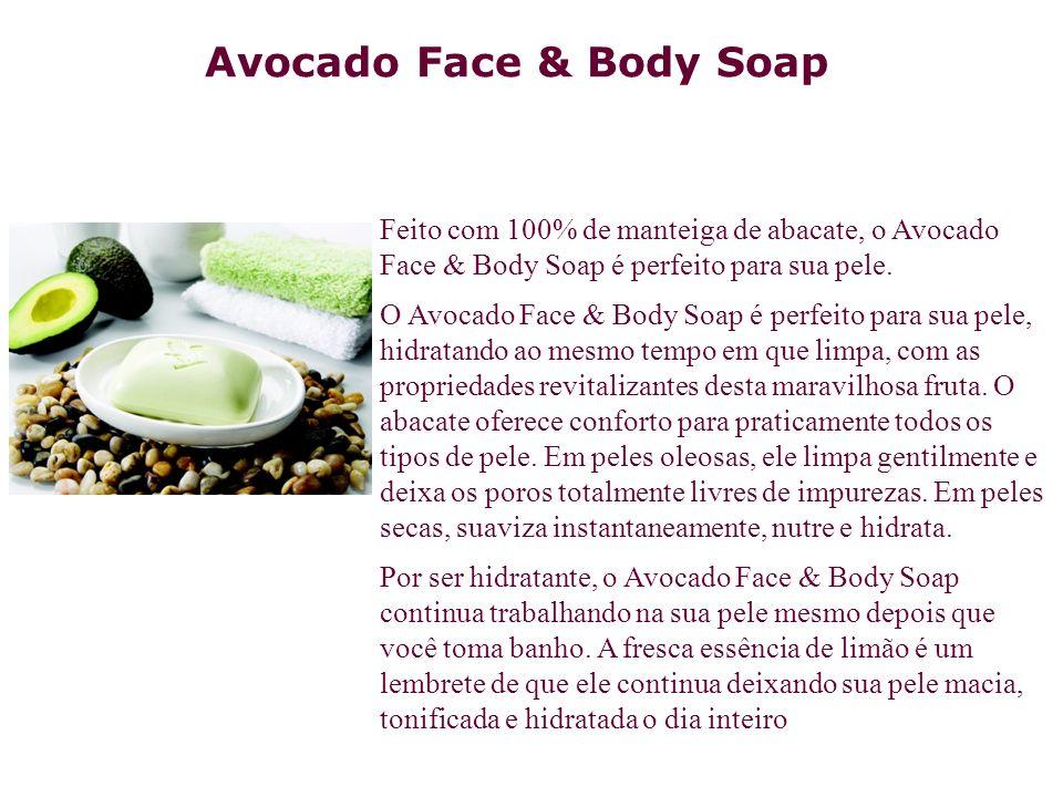 Feito com 100% de manteiga de abacate, o Avocado Face & Body Soap é perfeito para sua pele. O Avocado Face & Body Soap é perfeito para sua pele, hidra