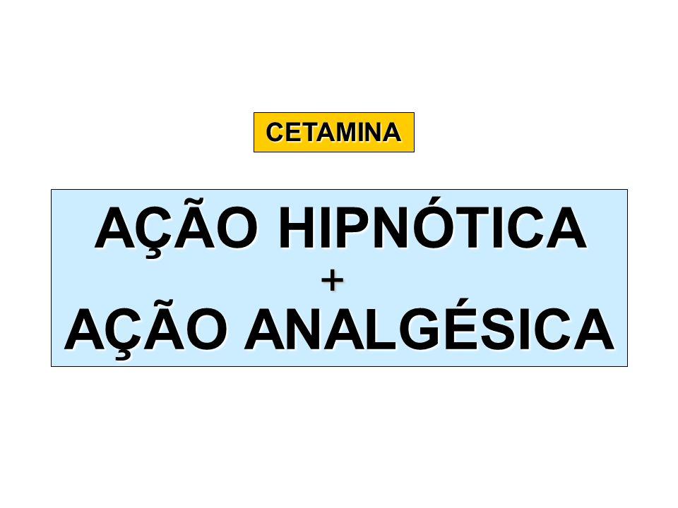 CETAMINA AÇÃO HIPNÓTICA AÇÃO ANALGÉSICA +