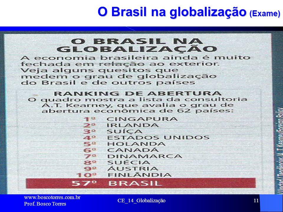 CE_14_Globalização11 O Brasil na globalização (Exame). www.boscotorres.com.br Prof. Bosco Torres