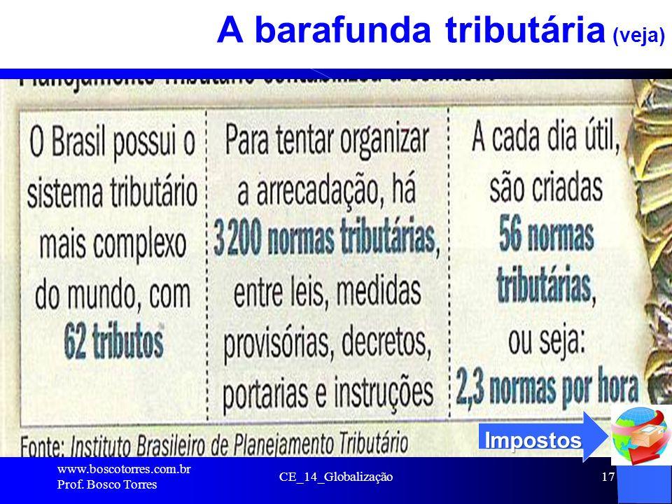 CE_14_Globalização17 A barafunda tributária (veja). www.boscotorres.com.br Prof. Bosco Torres Impostos