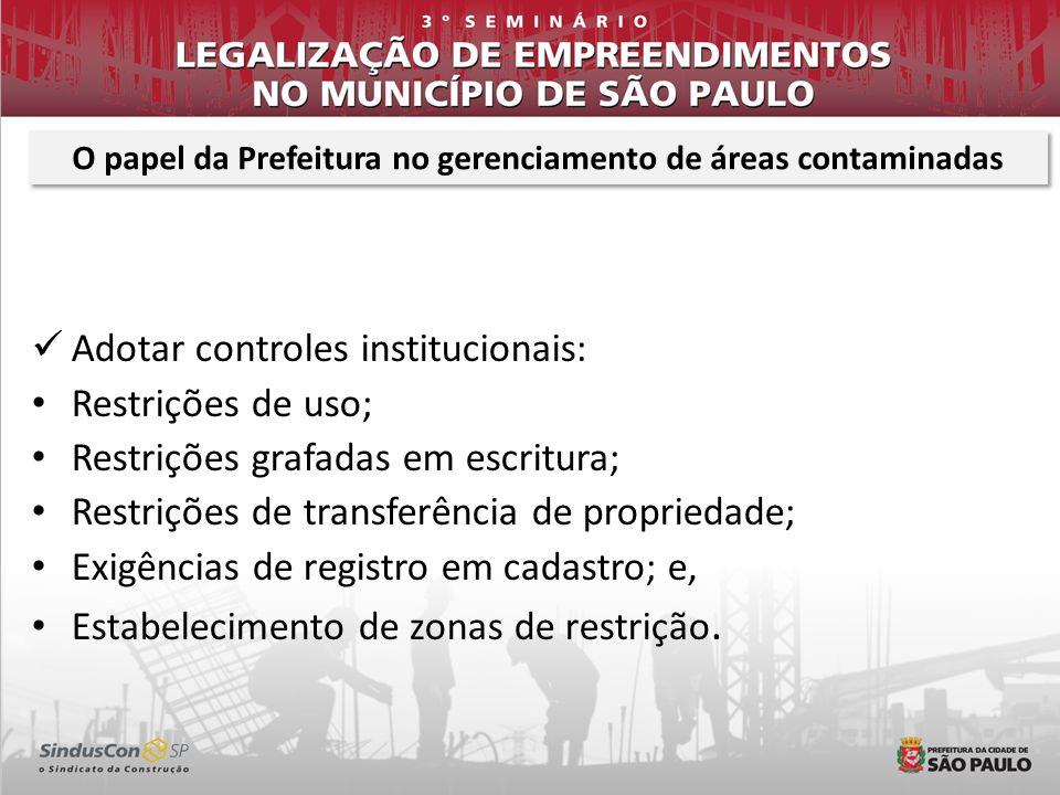 Adotar controles institucionais: Restrições de uso; Restrições grafadas em escritura; Restrições de transferência de propriedade; Exigências de regist