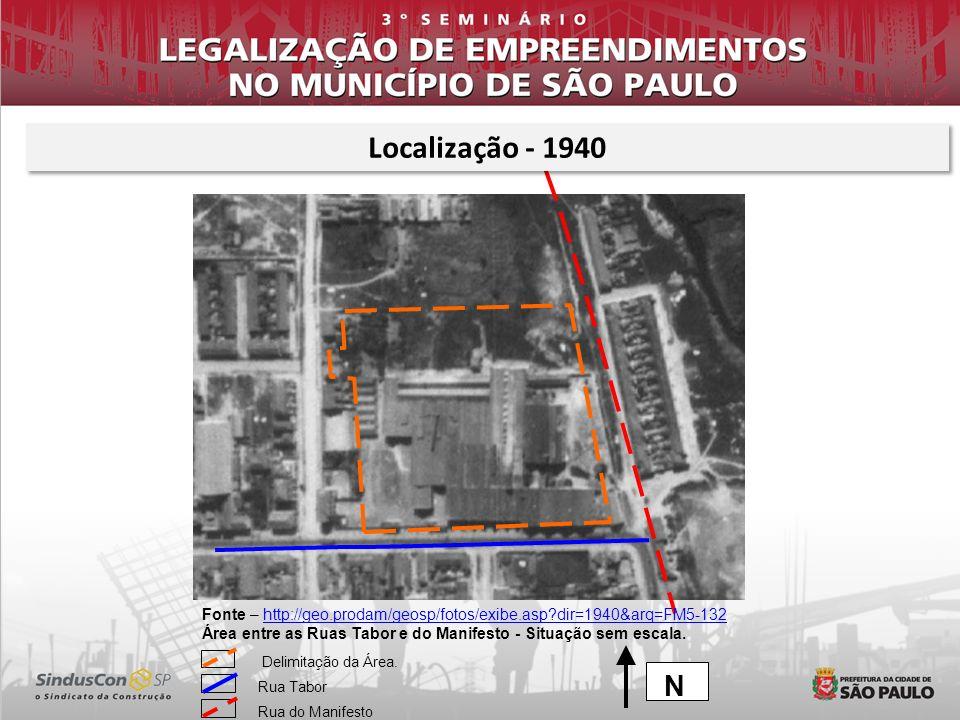 Fonte – http://geo.prodam/geosp/fotos/exibe.asp?dir=1940&arq=FM5-132http://geo.prodam/geosp/fotos/exibe.asp?dir=1940&arq=FM5-132 Área entre as Ruas Ta