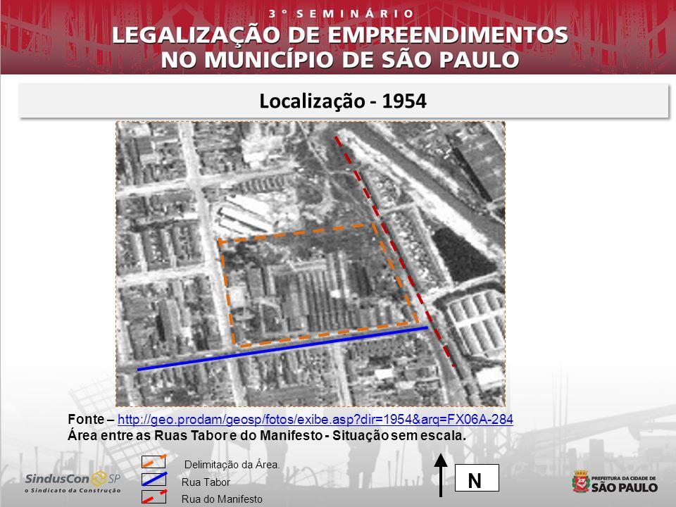 Fonte – http://geo.prodam/geosp/fotos/exibe.asp?dir=1954&arq=FX06A-284http://geo.prodam/geosp/fotos/exibe.asp?dir=1954&arq=FX06A-284 Área entre as Rua