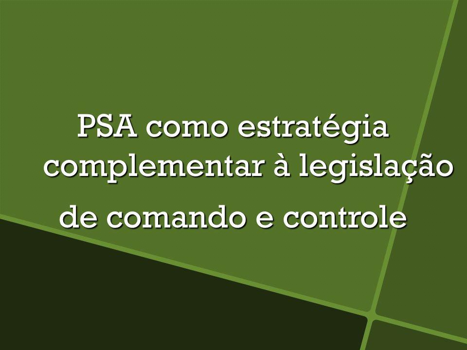 PSA como estratégia complementar à legislação de comando e controle