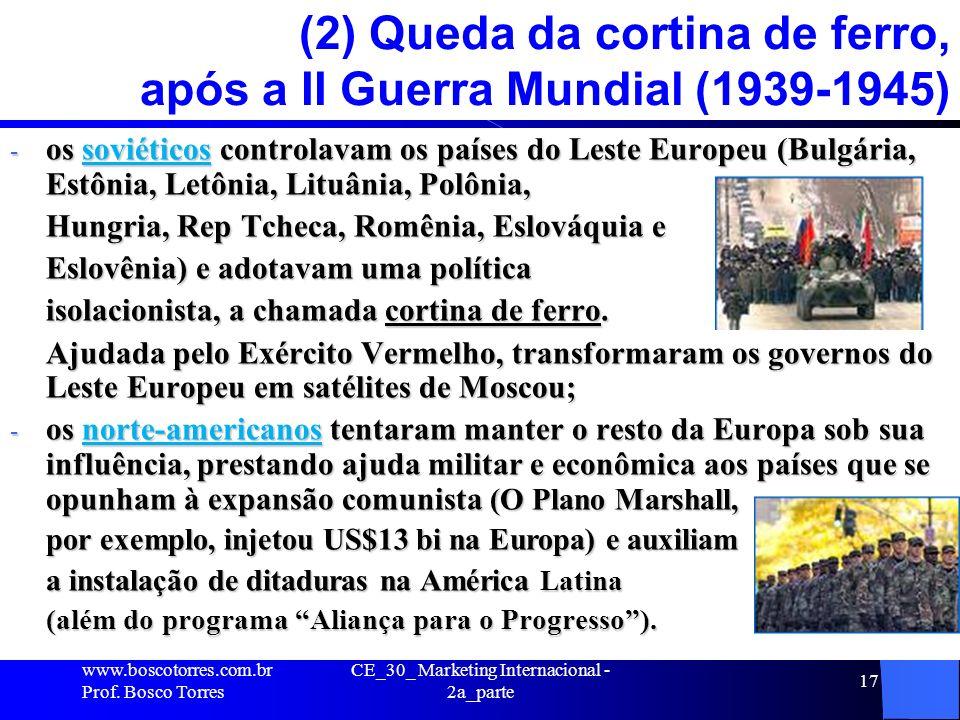 CE_30_ Marketing Internacional - 2a_parte 17 (2) Queda da cortina de ferro, após a II Guerra Mundial (1939-1945) - os soviéticos controlavam os países